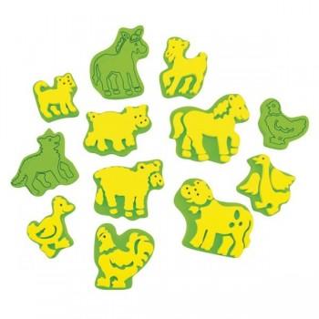 Stemple zwierzęta z farmy Mix - 12 szt.
