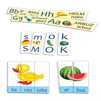 Litery, sylaby, wyrazy - 5 gier
