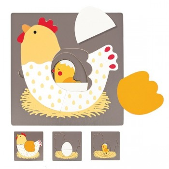 Puzzle 3 warstwowe - Kurczak