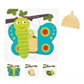 Puzzle 3 warstwowe - Motyl