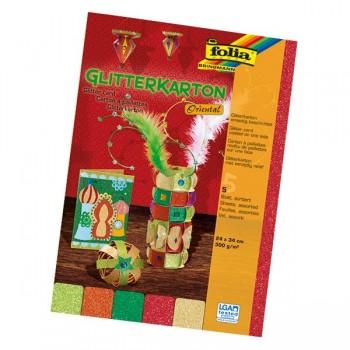 Karton z brokatem - orientalny