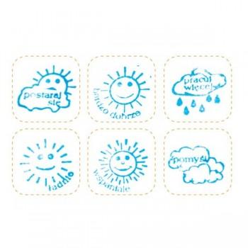 Stemple do małych dzieci w pudełku - Obrazkowe stemple