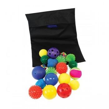 Zestaw sensorycznych piłek w worku
