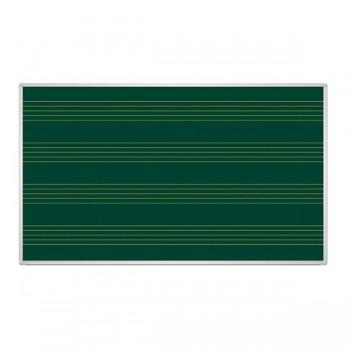 Tablica zielona z liniaturą - pięciolinia