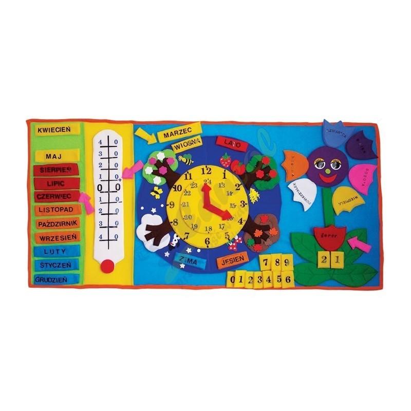 Makatka Kalendarz 4 Pór Roku z zegarem