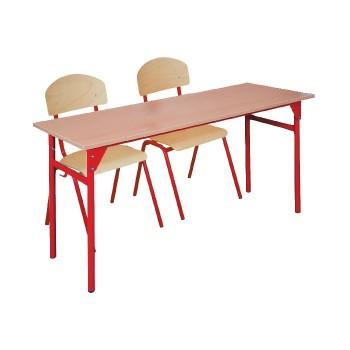Komplet dla 24 uczniów - Stolik DD + 2 krzesła DD - rozmiar 2