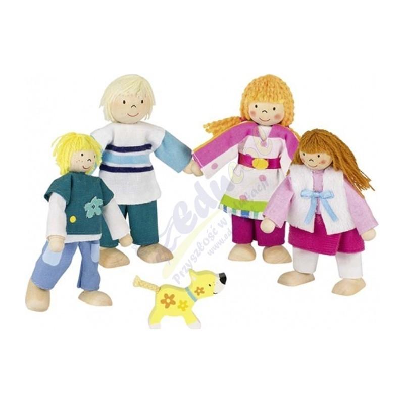 Drewniane lalki - rodzina