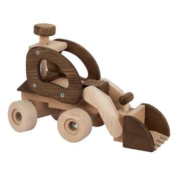 Drewniany spychacz
