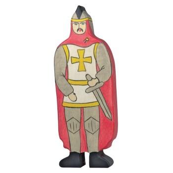 Figurka czerwony rycerz - 16,5cm.