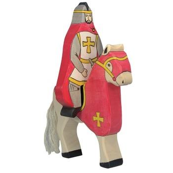 Figurka czerwony koń - 17cm.