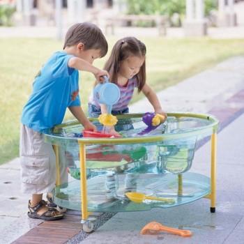 Wózek do zabaw z wodą i piaskiem - transparentny