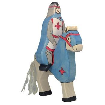 Figurka niebieski koń - 17cm.