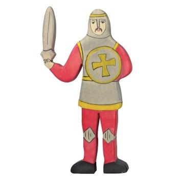 Figurka czerwony rycerz z mieczem - 16cm.