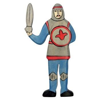 Figurka niebieski rycerz z mieczem - 16cm.
