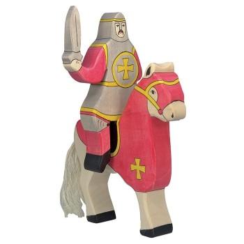 Figurka czerwony wojownik z mieczem - 19cm.