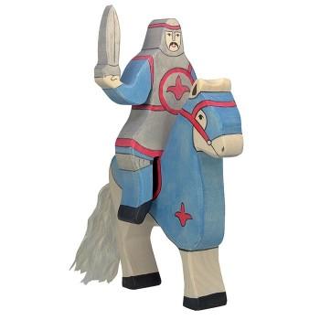 Figurka niebieski wojownik z mieczem - 19cm.
