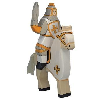 Figurka biały wojownik z mieczem - 16,5cm.