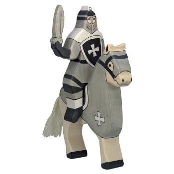 Figurka czarny wojownik z mieczem - 16,5cm.