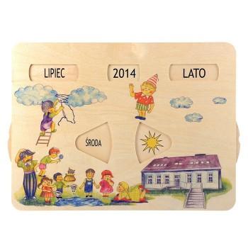 Drewniany kalendarz pogody