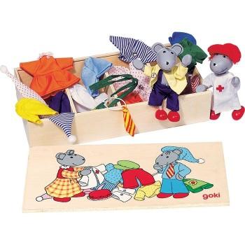 Elastyczne myszki z zestawem ubranek