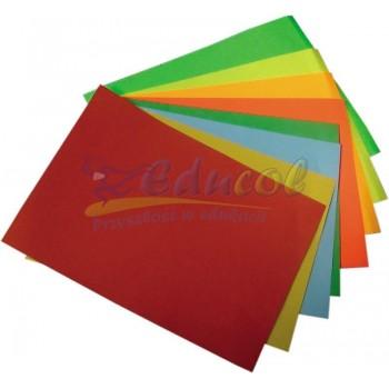 Zeszyt papierów kolorowych fluo  A4