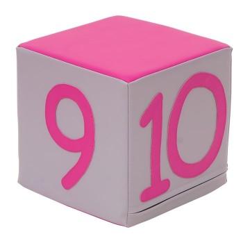Kostka duża - 9, 10, 0, znak równości
