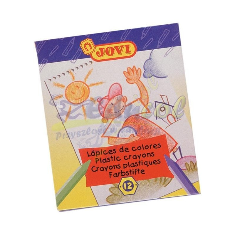 Kredki plastikowe 12 kolorów Jovi