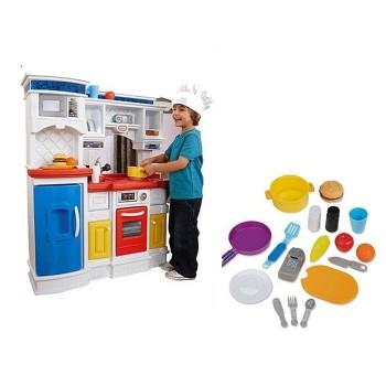 Kuchnia Smakosza piekarnik i lodówka - 17 akcesorii