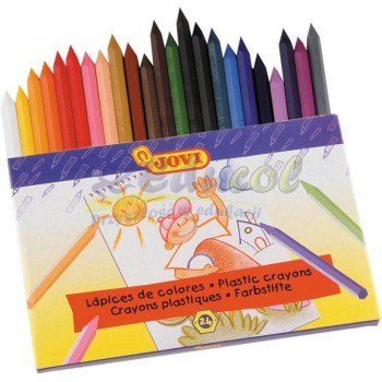 Kredki plastikowe 24 kolory Jovi
