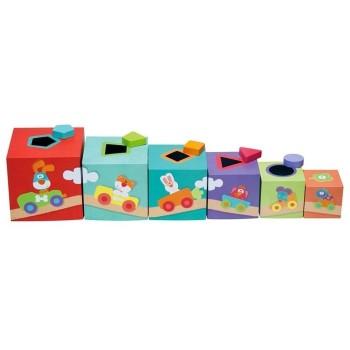 Kolorowe pudełka - Sorter Farma