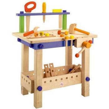 Drewniany warsztat z narzędziami, 22 el.