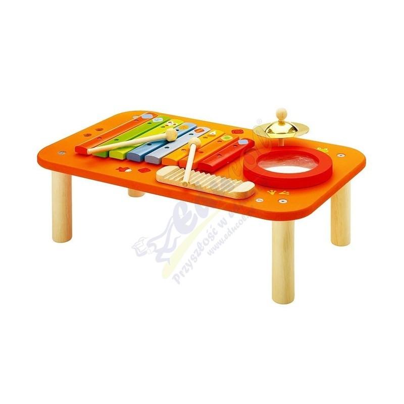 Kolorowe, drewniane centrum muzyczne 4w1