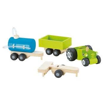 Traktor z wymiennymi przyczepkami