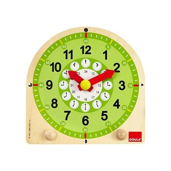 Szkolny zegar z ruchomymi wskazówkami