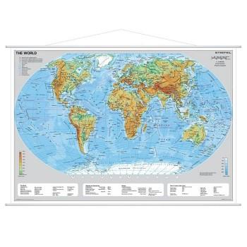 Mapa fizyczna świata - angielski