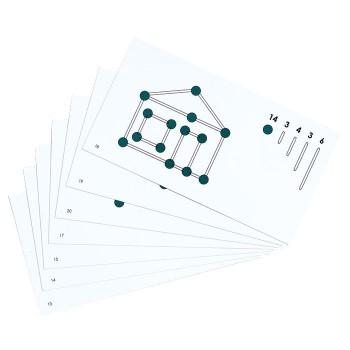 Połącz kulki w figury - karty pracy - figury płaskie