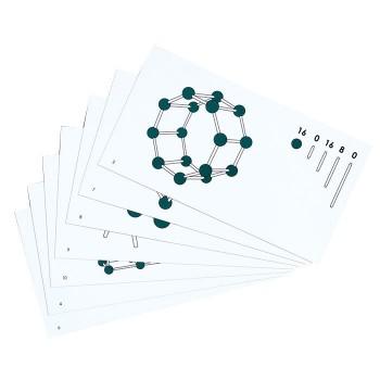 Połącz kulki w figury - karty pracy - figury przestrzenne