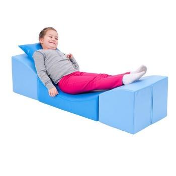 Sofka komfort - niebieska