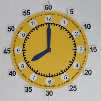 Zegar dwutarczowy demonstracyjny magnetyczny