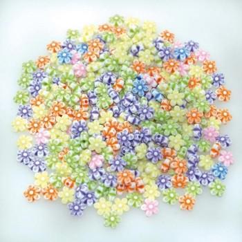 Koraliki pastelowe kwiatki
