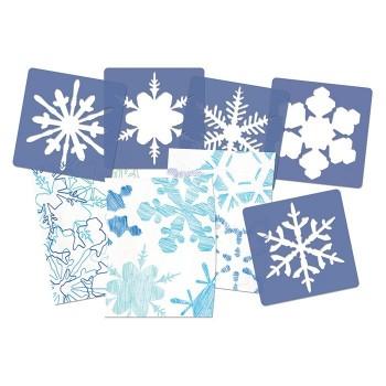 Szablony płatki śniegu