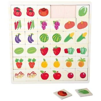 Układanka - owoce i warzywa