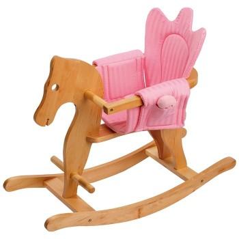 Bujany koń z siodłem