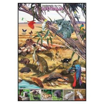Plansze - występowanie zwierząt - Australia