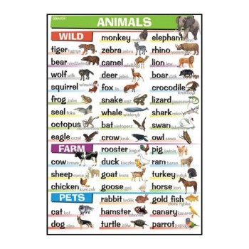 Plansze tematyczne - J. angielski - Animals