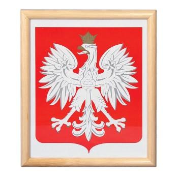 Godło Polski - rama drewniana