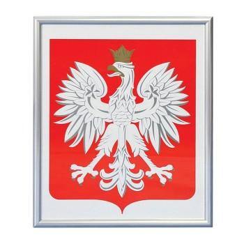 Godło Polski - rama aluminiowa
