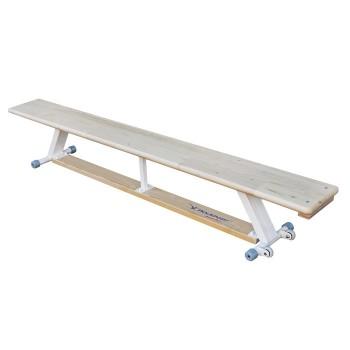 Ławka gimnastyczna z kółkami - 2 m