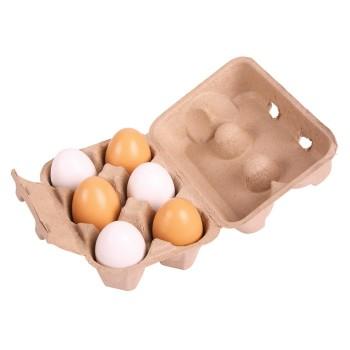 Zestaw jaj w kobiałce