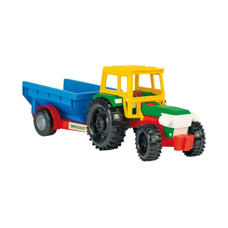 Traktor z przyczepką z koniem Wader